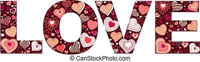 """lavede, valentine, lille, hjerter, """"love"""", tegn"""