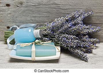 lavendel, items., hygiëne