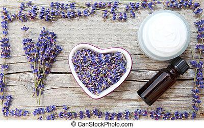 lavendel, produkte, natürlich, kosmetisch