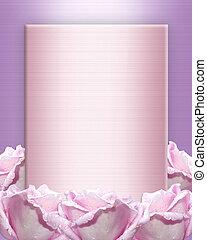 lavendel, rozen, uitnodiging, trouwfeest