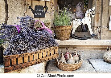 lavendel, verkauf, in, provence, frankreich