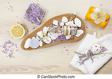 Lavender and lemon aromatherapy