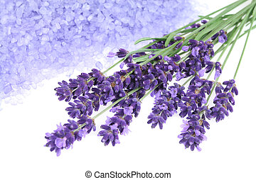 Lavender - Bunch of lavender and bath salt - beauty...