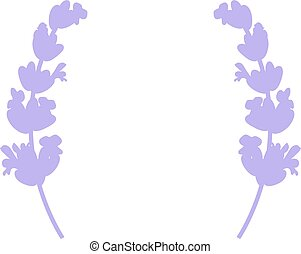 Lavender Card with flowers. Label frame