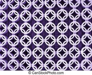 Lavender circular lattice background