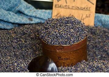 Lavender sold in bulk to make potpourri