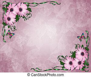 Lavender Daisies Background