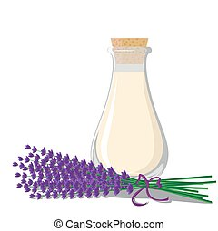 Lavender essential oil - Small bottle with essential oil of ...