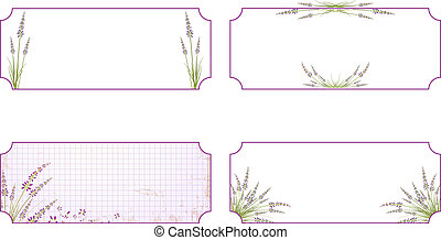 Lavender Flower Label Set - Lavender Flower Label Collection...