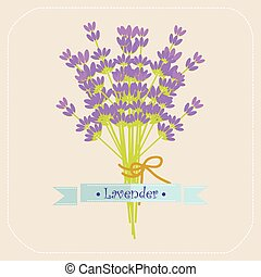 Lavender flowers icon