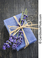 Lavender handmade soap - Lavender handmade artisan soap with...