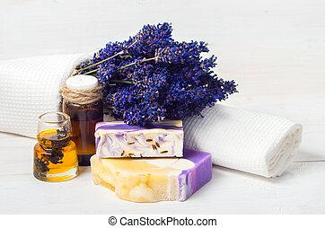 Lavender handmade soap,oil