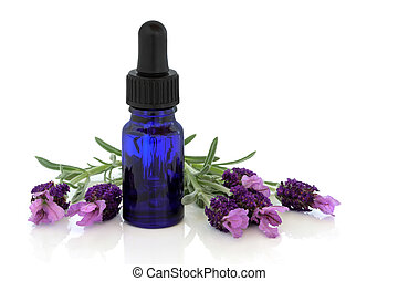 Lavender Herb Flower Essence - Lavender herb flowers with...