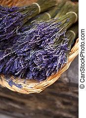 Lavender in a basket