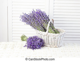 Lavender in a basket. Provence region of france
