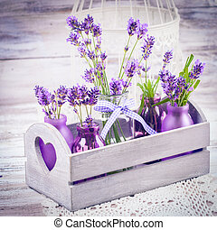 Lavender in bottles decor - Lavender in bottles, decor...