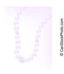lavender pearl necklace with diamonds