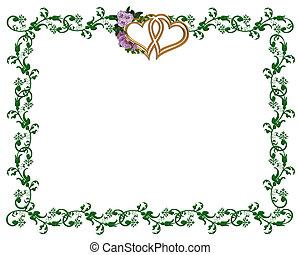 Lavender roses ornamental border
