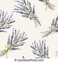 Lavender seamless pattern - handdrawn style graphic