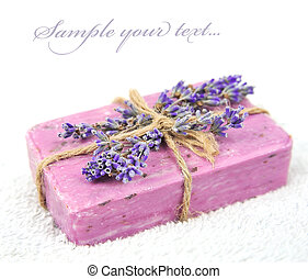 Lavender soap - Home-made soap with lavender