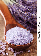 Lavender spa with sea salt
