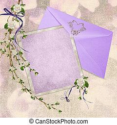 wedding stationery - Lavender wedding stationery with...