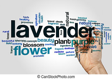 Lavender word cloud