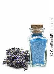 lavender., zouten, bad