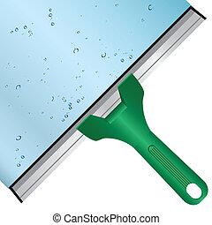 laver, fenêtre, verre