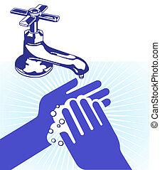 laver, mon, mains