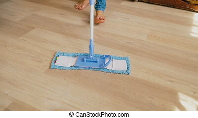 lavette, nettoyage, plancher