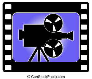 lavorativo, macchina fotografica, cinema