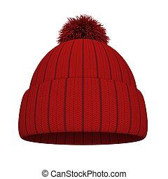 lavorato maglia, cappello