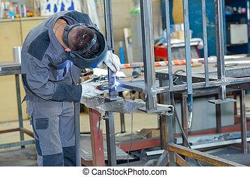 lavoratore, acciaio