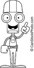 lavoratore costruzione, idea, robot, cartone animato