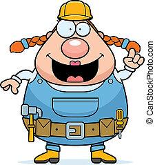 lavoratore costruzione, idea