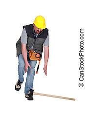lavoratore costruzione, incidente