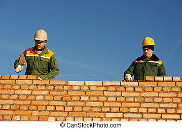 lavoratore costruzione, muratori, muratore