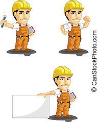 lavoratore, industriale, cust, costruzione