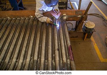 lavoratore industriale, saldatore