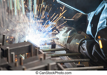 lavoratore industriale, saldatura