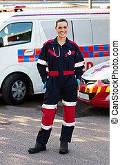 lavoratore medico, servizio emergenza