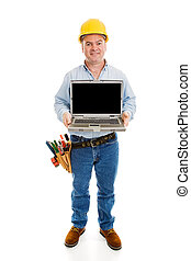 lavoratore, messaggio, costruzione