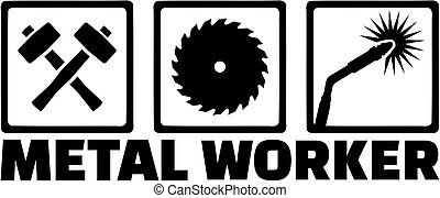 lavoratore metallo, icone