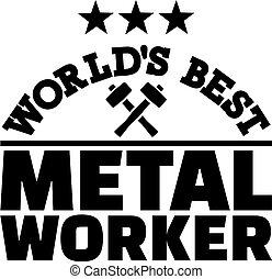 lavoratore metallo, mondo, meglio