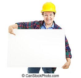 lavoratore, segno, femmina