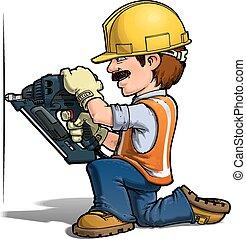 lavoratori costruzione, -, nailling