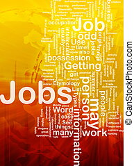 lavori, concetto, occupazione, fondo