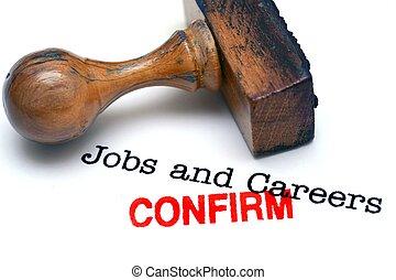 lavori, confermare