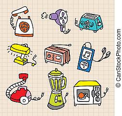 lavori domestici, icona, elemento